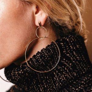 ❤️ COMING SOON!! ❤️Double Gold Hoop Earrings NWT